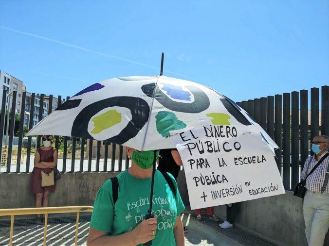Concentración por la vuelta segura a los centros educativos. 31/08/2020 CEIP El Bercial