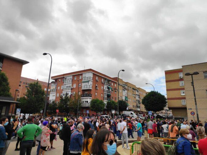 Concentración frente al Centro de Salud de Sánchez Morate